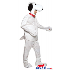 Big Snoopy White Dog Cartoon Character Adult Size Costume -