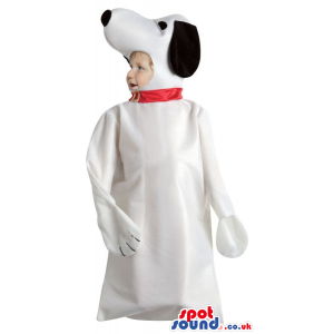 Big Snoopy White Dog Cartoon Character Baby Size Costume -