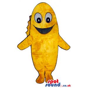 Funny Yellow Fish Plush Mascot With A Cartoon Face - Custom