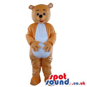 Cute Brown Teddy Bear Plush Mascot With A White Belly - Custom
