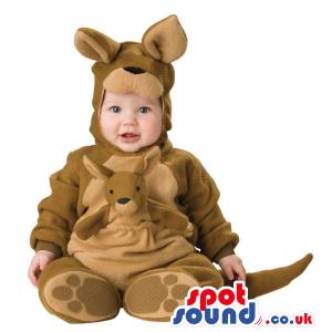 Very Cute Kangaroo Baby Size Costume With A Baby Toy - Custom