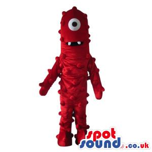 Yo Gabba Gabba Characters Red One-Eyed Alien Plush Mascot -
