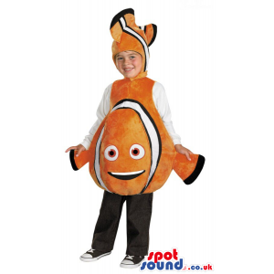 Orange And White Nemo Fish Character Children Size Plush Costume