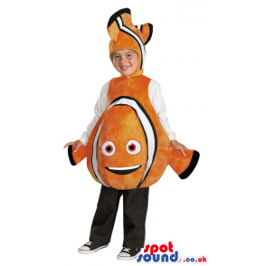Orange And White Nemo Fish Character Children Size Plush