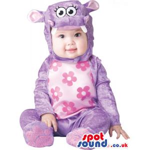 Pink And Purple Hippopotamus Baby Size Plush Costume - Custom