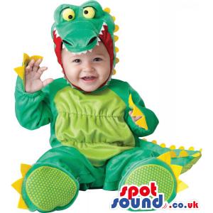Cute Green And Yellow Dragon Baby Size Plush Costume - Custom