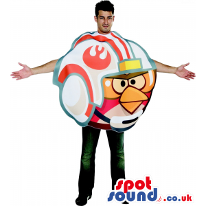 Cool Angry Birds In A Helmet Character Adult Size Costume. -