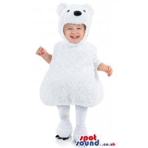 Cute Hairy Polar Bear Animal Baby Size Plush Costume - Custom