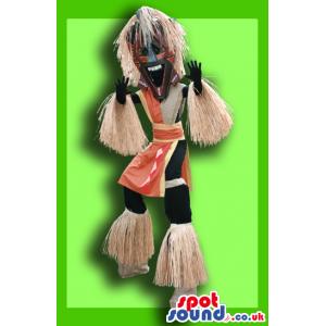 Amazing Tribal Aborigine Man Adult Size Costume On Stilts -