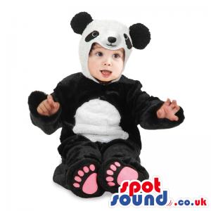Cute Black And White Panda Bear Baby Size Plush Costume -