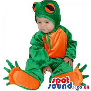 Cute Green And Orange Frog Baby Size Shinny Costume - Custom
