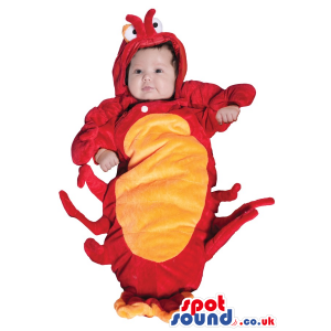 Cute Red And Yellow Lobster Baby Size Plush Costume - Custom