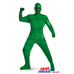 Amazing All Green Toy Soldier Adult Size Costume - Custom