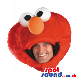 Amazing Red Elmo Character Adult Size Costume Head Mask -