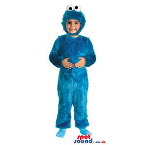 Amazing Blue Cookie Monster Children Size Plush Costume -