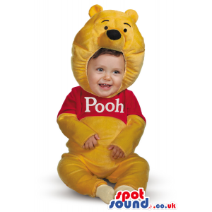 Cute Yellow Winnie The Pooh Bear Character Baby Size Costume -