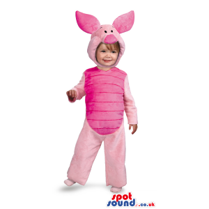 Cute Pink Winnie The Pooh Piglet Character Children Size