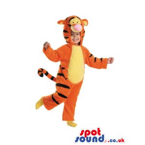 Cute Winnie The Pooh Tiger Character Children Size Costume -