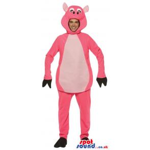 Amazing Big Pig Adult Size Plush Costume Or Mascot - Custom