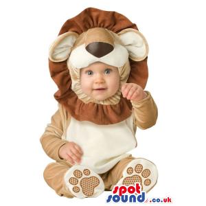 Very Cute Brown Lion Animal Baby Size Plush Costume - Custom