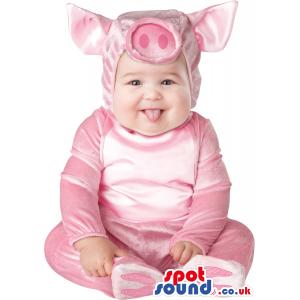 Very Cute Pink Pig Farm Animal Baby Size Plush Costume - Custom