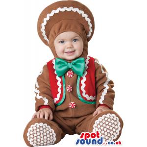 Very Cute Ginger-Bread Man Baby Size Plush Costume - Custom