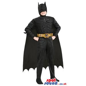 All Black Batman Marvel Cartoon Character Children Size Costume