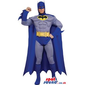 All Blue Batman Cartoon Character Adult Size Costume - Custom
