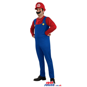 Mario Bros. Mario Video Game Character Adult Size Costume -