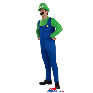 Mario Bros. Mario Luigi Video Game Character Adult Size Costume