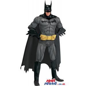 All Black Strong Batman Cartoon Character Adult Size Costume -