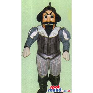 Amazing Classic Literature Human Mascot With Black Beard And