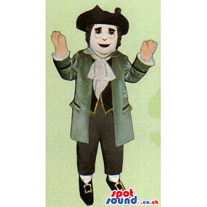 Amazing Classic Literature Human Mascot With Glasses And A Hat