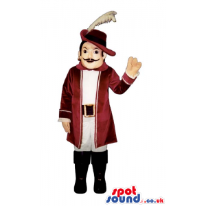 Amazing Classic Literature Human Mascot With A Feather Hat -