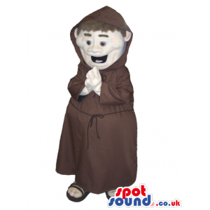 Fantastic Monk Human Character With Brown Garments - Custom