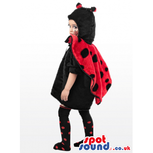 Cute Ladybird Children Size Plush Costume With Dot Socks -