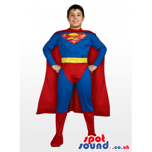 Cool And Strong Superman Children Size Plush Costume - Custom