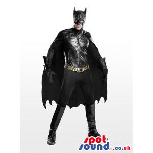 All Black Realistic Batman Character Adult Size Costume -