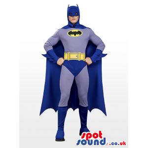 All Blue Realistic Batman Character Adult Size Costume - Custom