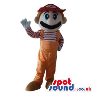 Mario Bros. Video Game Character Mascot In Orange Overalls -
