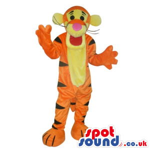 Tiger Winnie The Pooh Character Plush Mascot With Yellow Face -
