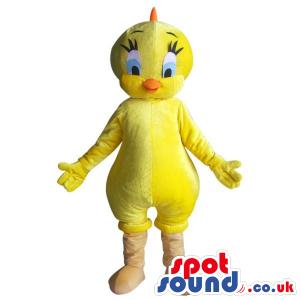 Popular Tweety Alike Character Plush Mascot With A Yellow Body