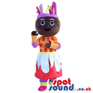 Dark Cosmic Girl Plush Mascot With A Flashy Dress - Custom