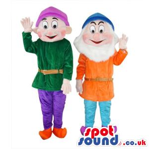 Two Popular Snow White Dwarfs Tale Character Plush Mascots -