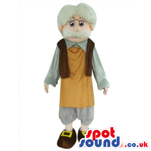 Gepetto Pinocchio Tale Character Plush Mascot With A White