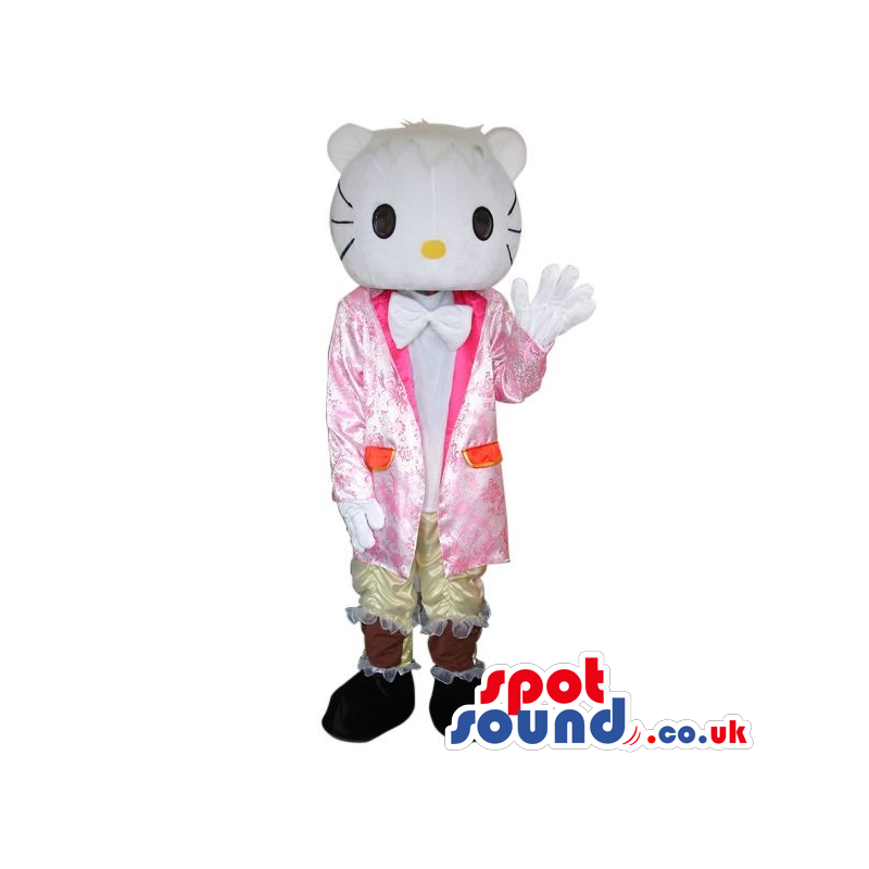Kitty Boy Character Plush Mascot With A Shinny Suit - Custom