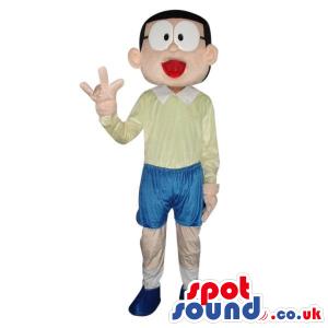 Popular Nobita Character From Doraemon Tv Series Plush Mascot.
