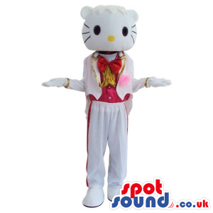 Kitty Boy Character Plush Mascot With A Shinny Tuxedo - Custom
