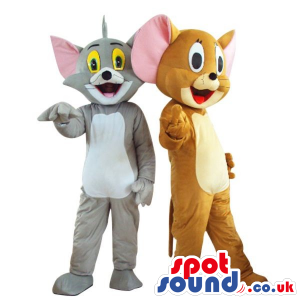 Two Cute Popular Tom And Jerry Cartoon Characters Plush Mascots