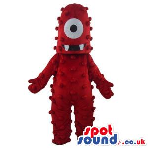 Muno Yo Gabba Gabba Character Red One-Eyed Monster Mascot -